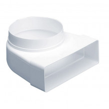 SUPERTUBE 125 90¡ bend rectangular to round 100mm - white
