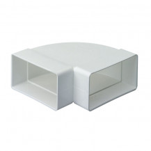 SUPERTUBE 125 90¡ bend rectangular to rectangular horizontal - white