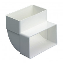 SUPERTUBE 125 90¡ bend rectangular to rectangular vertical - white