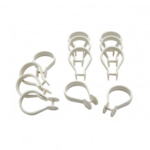 Shower rings white snapper type (12 pk)