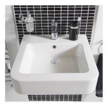 Aviso 500mm White Ceramic 1 Tap Hole Wall Hung Basin