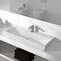 Vico 1 Tap Hole White Ceramic Basin