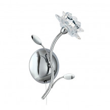 Bellis Chrome Glass Flower Wall Light