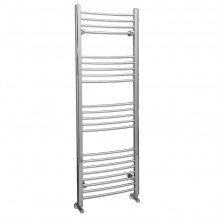 Eco Heat 1600 x 500mm Curved Chrome Heated Towel Rail