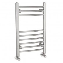 Eco Heat 650 x 400mm Curved Chrome Heated Towel Rail