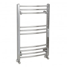 Eco Heat 800 x 500mm Curved Chrome Heated Towel Rail