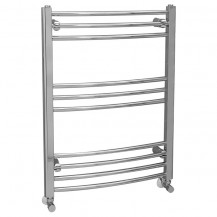 Eco Heat 800 x 600mm Curved Chrome Heated Towel Rail
