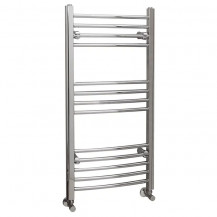 Eco Heat 1000 x 500mm Curved Chrome Heated Towel Rail