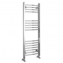 Eco Heat 1200 x 400mm Curved Chrome Heated Towel Rail