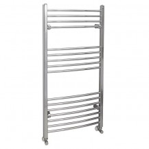 Eco Heat 1200 x 600mm Curved Chrome Heated Towel Rail