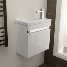 Vigo 420mm Wall Mounted White Vanity Unit