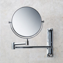 Round 150mm 3 x Magnifying Extending Wall Mirror