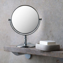 Round 150mm 3 x Magnifying Pedestal Mirror
