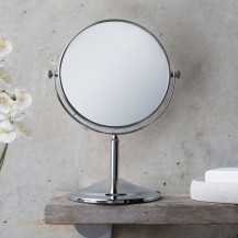 Round 200mm 5 x Magnifying Pedestal Mirror