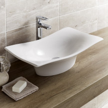 Iseo White Ceramic Countertop Vessel Basin