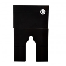 Floor Standing Black Glass Cabinet Cistern with push button