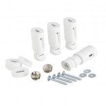 Universal White Heated Towel Rail Bracket Set