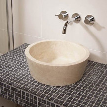 Como Travertine Stone Basin