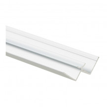 2440mm Laminate Shower Wall Int Cnr Profile Aluminium