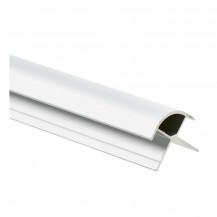 2440mm Laminate Shower Wall Ext Cnr Profile Aluminium
