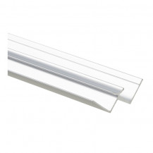2440mm Laminate Shower Wall Int Cnr Profile Polished Chrome
