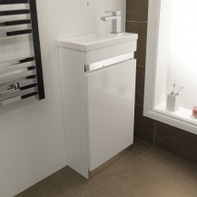 Vigo 420mm White Cloakroom Vanity Unit