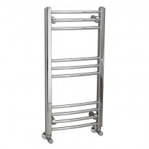 Eco Heat 800 x 400mm Curved Chrome Heated Towel Rail