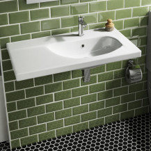 Trento 1 Tap Hole White Ceramic Wall Hung Basin