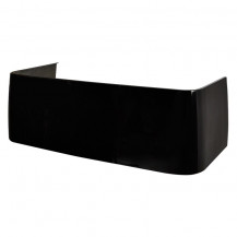 Riverton Pitch Black Gloss D Shaped 1700 Bath Front Panel