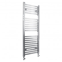 Beta Heat 1200 x 450mm Square Chrome Heated Towel Rail