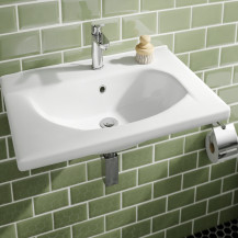 Trento White Ceramic Wall Hung Basin