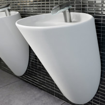 Garda White Ceramic Wall Hung Basin