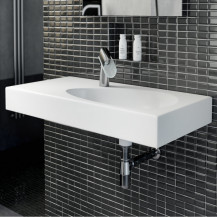 Garda White Ceramic Wall Hung or Counter Top Basin