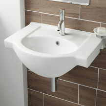 Misa White Ceramic Wall Hung Basin