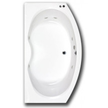 Rennes 1700 x 970 Bow Fronted Whirlpool Bath with 6 Jets or 11 Jets