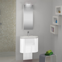 Agata Vanity Unit with Basin and Mirror Pure White Gloss