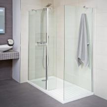 Aqualine™ 8mm 1400 x 900 Walk In Enclosure With Slimline Shower Tray