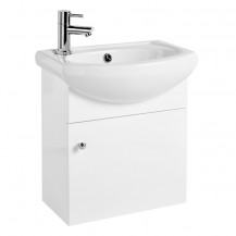 Adele Gloss White Vanity Unit with Ceramic Basin 470x420x290