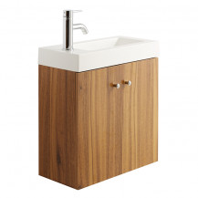 Darcey Oak Effect Wall Hung Vanity Unit with Basin 540x495x220