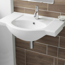 Misa White Ceramic Wall Hung Basin (1 Tap Hole)