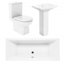 Salou Quatro 1700x750 Bath Suite Deal