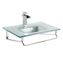 Siena Silver Foil Glass Wall Mounted Basin