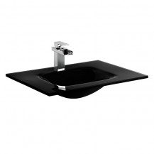 Siena Black Glass Counter Top Basin