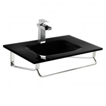 Siena Black Glass Wall Mounted Basin
