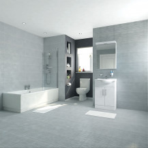 Voss Dee 55 Vanity Unit Shower Bath Bathroom Suite