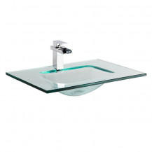 Siena Clear Glass Counter Top Basin