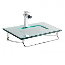 Siena Clear Glass Wall Mounted Basin