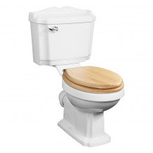 Victoriana Traditional Toilet with Sit Tight Douglas Blonded Pine Solid Wood Toilet Seat