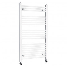 Beta Heat 1150 x 600mm Straight White Heated Towel Rail
