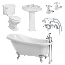1570 Victoriana Traditional Slipper Bath Suite